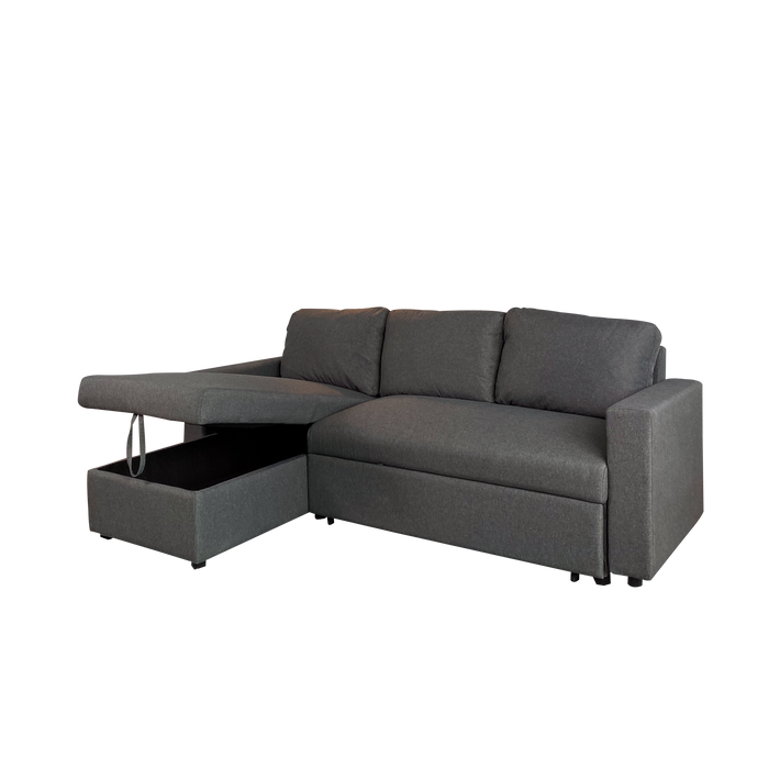 Kelsey L-Shaped Sofa with Storage Bed, Fabric - Novena Furniture Singapore - Sofas