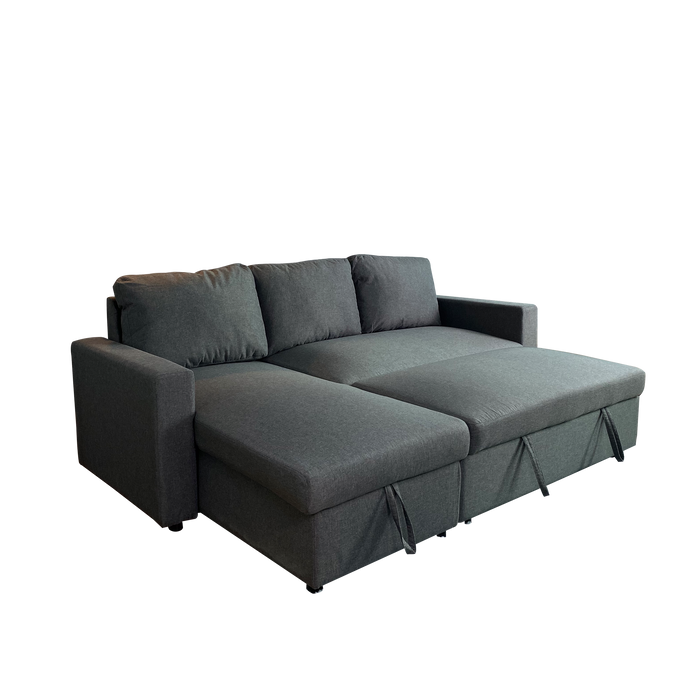 Kelsey L-Shaped Sofa with Storage Bed, Fabric