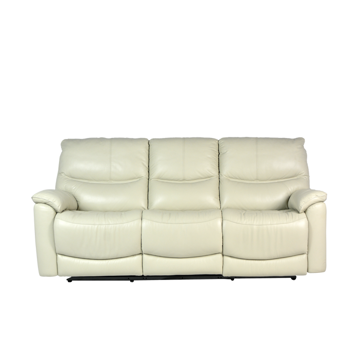 Leica 3 Seater Recliner Sofa, Half Leather - Novena Furniture Singapore - Recliners
