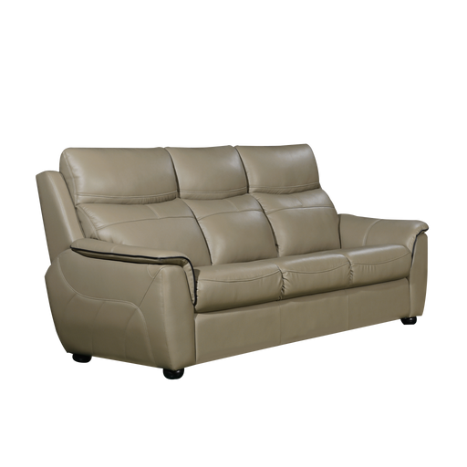 Lucana 3 Seater Sofa, Half Leather - Novena Furniture Singapore