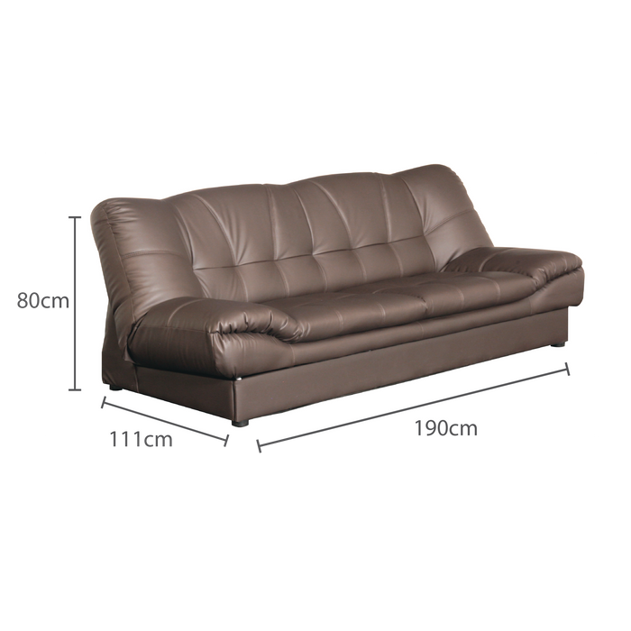 Mirai 3 Seater Sofabed, Synthetic Leather