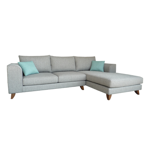 Marini L-Shaped Sofa, Fabric - Novena Furniture Singapore - Sofas