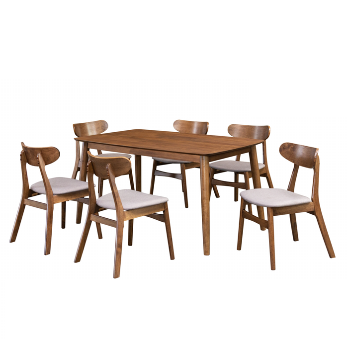 Moray 1.5M Dining Table, Rubber Wood - Novena Furniture Singapore