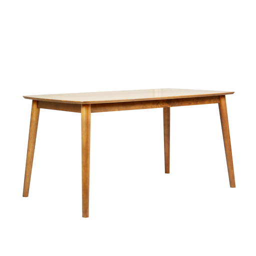 Moray 1.5M Dining Table, Rubber Wood - Novena Furniture Singapore - Dining Table