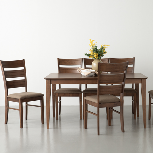 Muji 1.5M Dining Table, Solid Wood - Novena Furniture Singapore