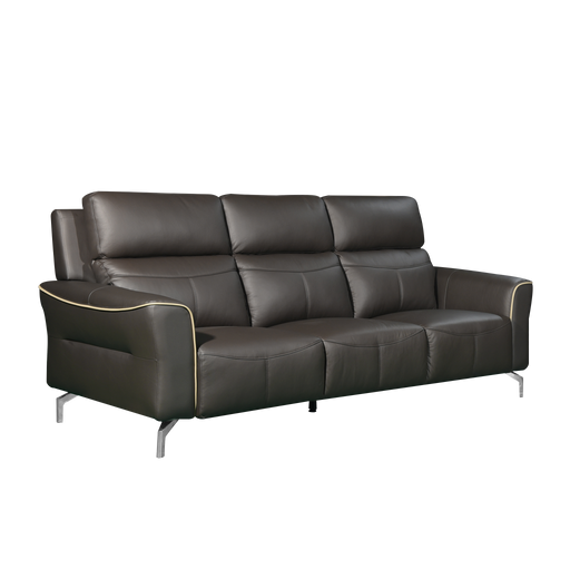 Muzia 3 Seater Sofa, Half Leather - Novena Furniture Singapore