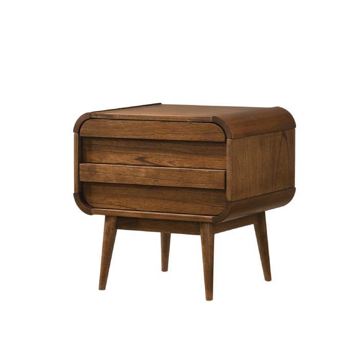Natalie Bedside Table, Rubber Wood - Novena Furniture Singapore