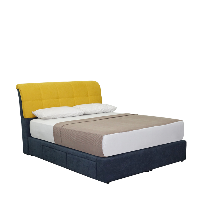 Nicolette Upholstered Bed - Novena Furniture Singapore