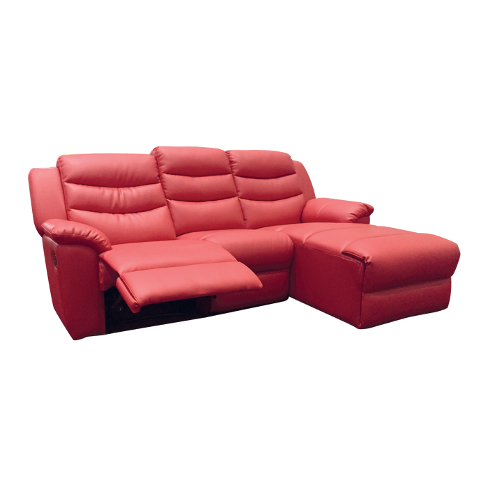 Normand 3 Seater Recliner Sofa, Simulated Leather