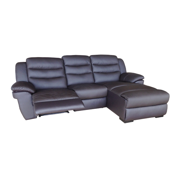 Normand L-Shaped Recliner Sofa, Simulated Leather