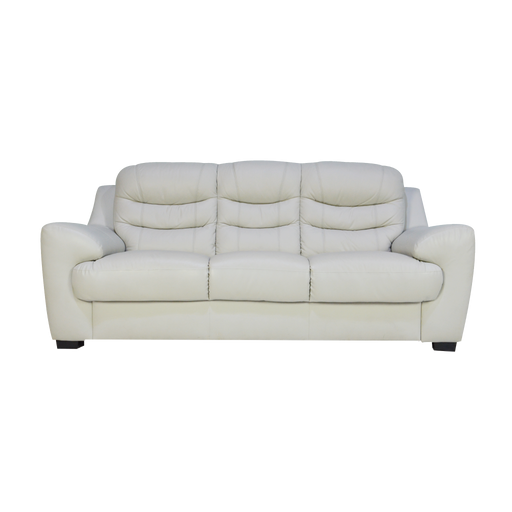 Pottery 3 Seater Sofa, Half Leather - Novena Furniture Singapore - Sofas