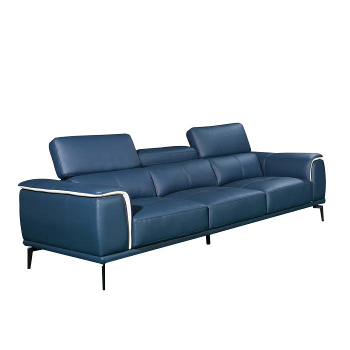 Prezia 3 Seater Sofa, Half Leather - Novena Furniture Singapore