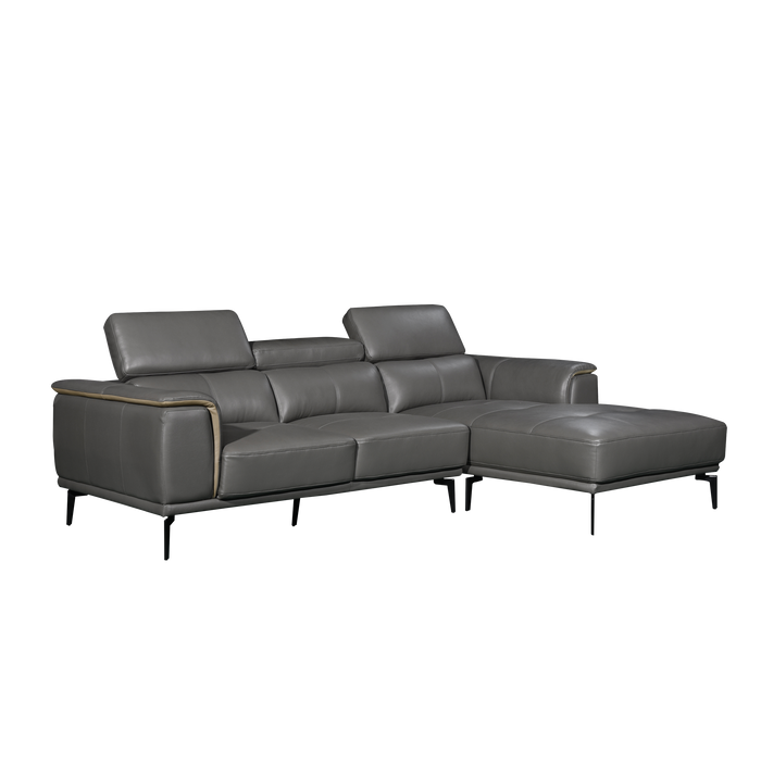 Prezia L-Shaped Sofa, Half Leather - Novena Furniture Singapore