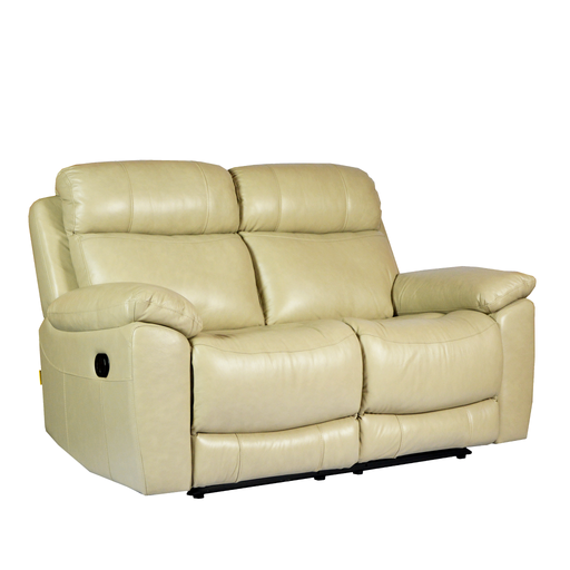 Roxy 2 Seater Recliner Sofa, Half Leather - Novena Furniture Singapore