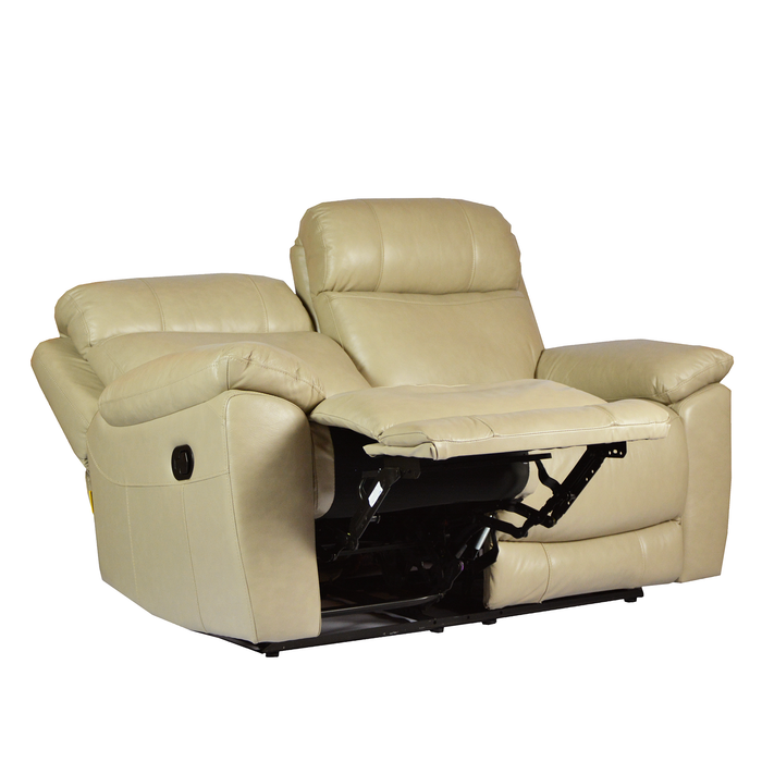 Roxy 2 Seater Recliner Sofa, Half Leather