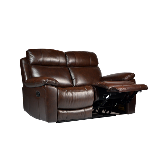 Roxy 2 Seater Recliner Sofa, Half Leather - Novena Furniture Singapore - Recliners