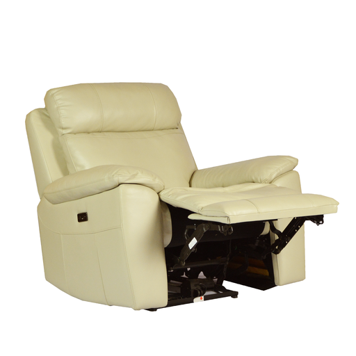Roxy Recliner Armchair, Half Leather - Novena Furniture Singapore