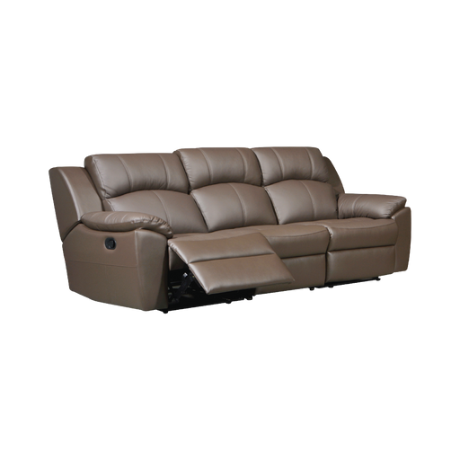 Sanro 3 Seater Recliner Sofa, Half Leather - Novena Furniture Singapore - Recliners