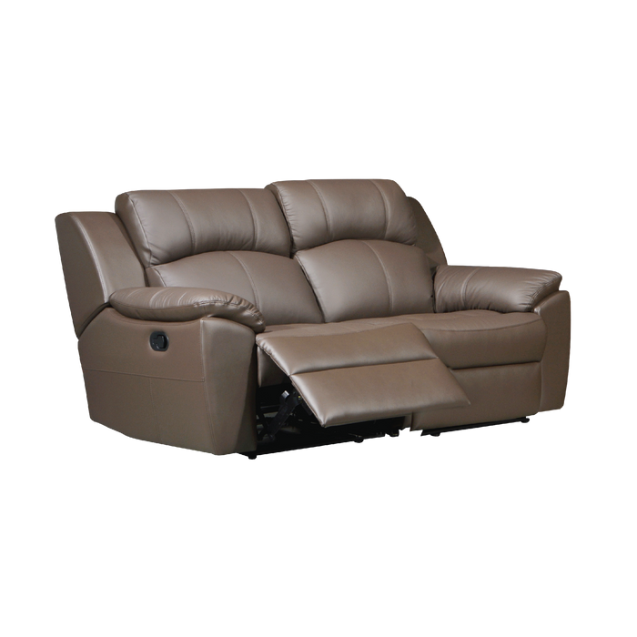 Sanro 2 Seater Recliner Sofa, Half Leather - Novena Furniture Singapore