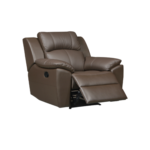 Sanro Recliner Armchair, Half Leather - Novena Furniture Singapore