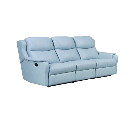 Skylar 3 Seater Recliner Sofa, Half Leather