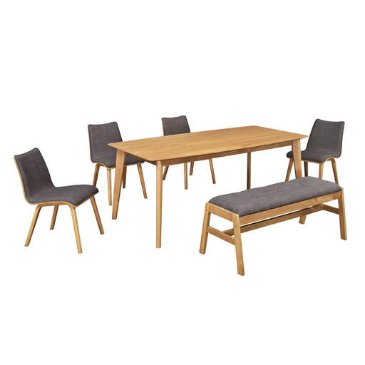 Seb 1.8M Dining Table, Rubber Wood