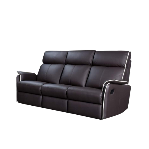 Silas 3 Seater Recliner Sofa, Half Leather - Novena Furniture Singapore