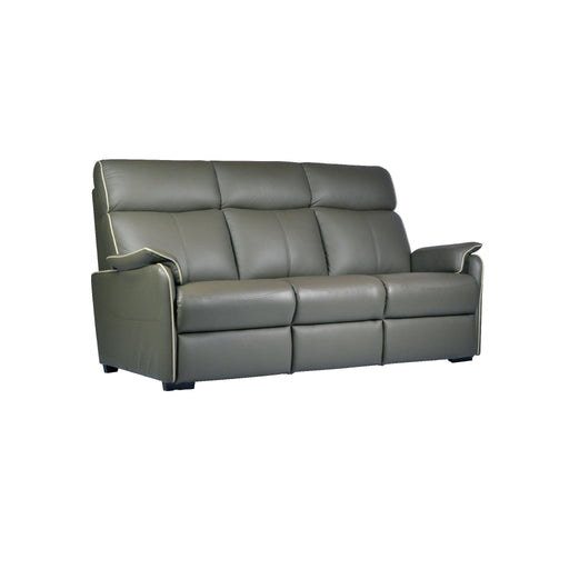 Silas 3 Seater Sofa, Half Leather - Novena Furniture Singapore
