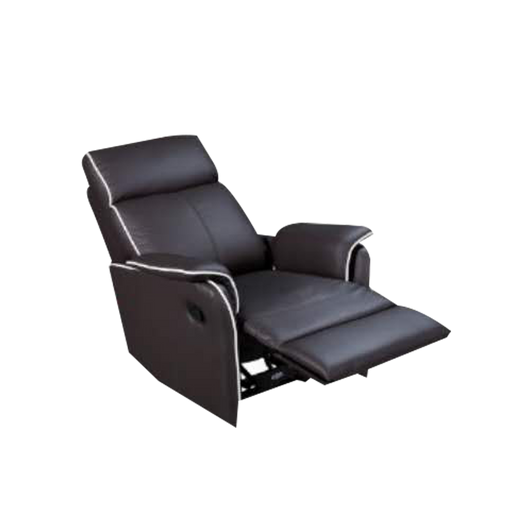 Silas Recliner Armchair, Half Leather - Novena Furniture Singapore