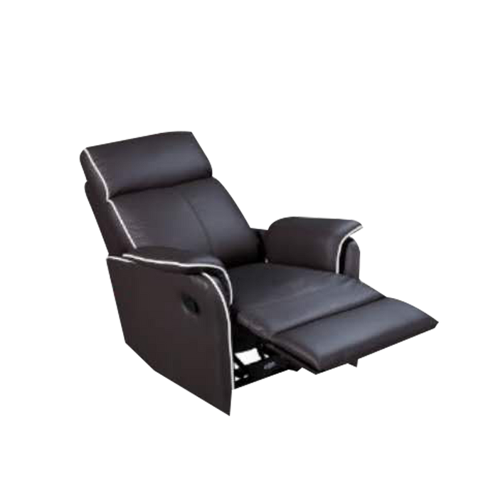 Silas Recliner Armchair, Half Leather - Novena Furniture Singapore - Recliners