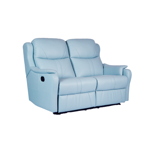 Skylar 2 Seater Recliner Sofa, Half Leather - Novena Furniture Singapore - Recliners