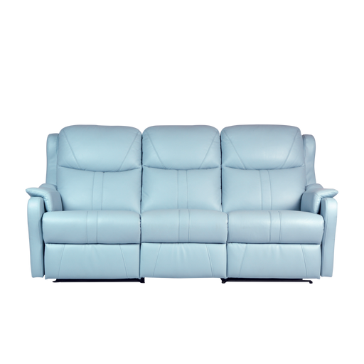 Skylar 3 Seater Recliner Sofa, Half Leather - Novena Furniture Singapore