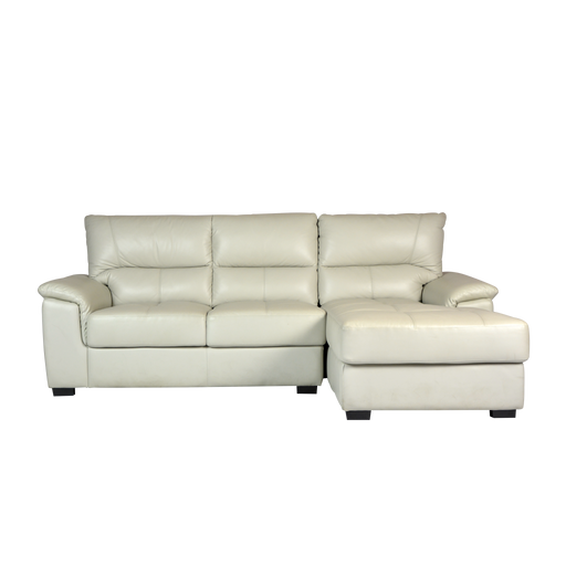 Spar L-Shaped Sofa, Half Leather - Novena Furniture Singapore