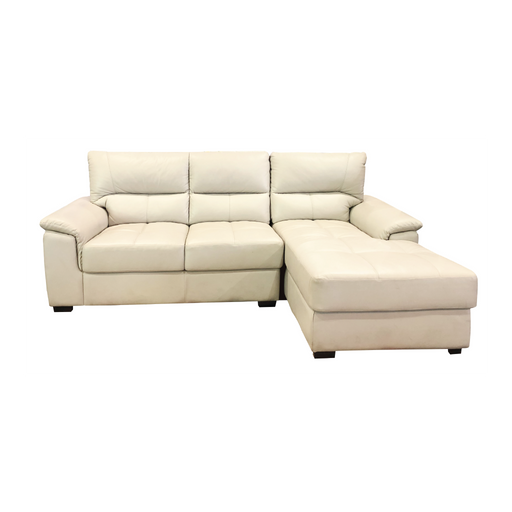 Spar L-Shaped Sofa, Half Leather