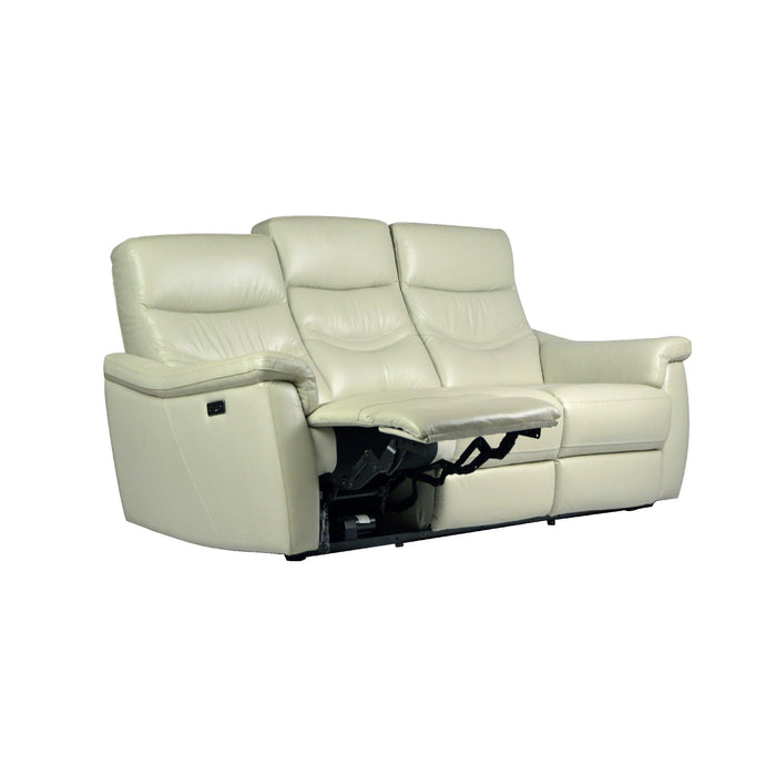 Star 3 Seater Recliner Sofa, Half Leather - Novena Furniture Singapore