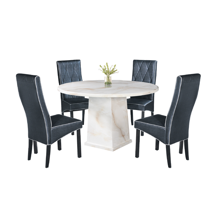 Suzetta Marble Dining Set