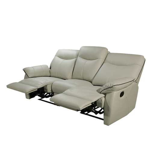 Tabor 3 Seater Recliner Sofa, Half Leather - Novena Furniture Singapore - Recliners