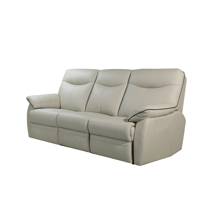 Tabor 3 Seater Recliner Sofa, Half Leather - Novena Furniture Singapore