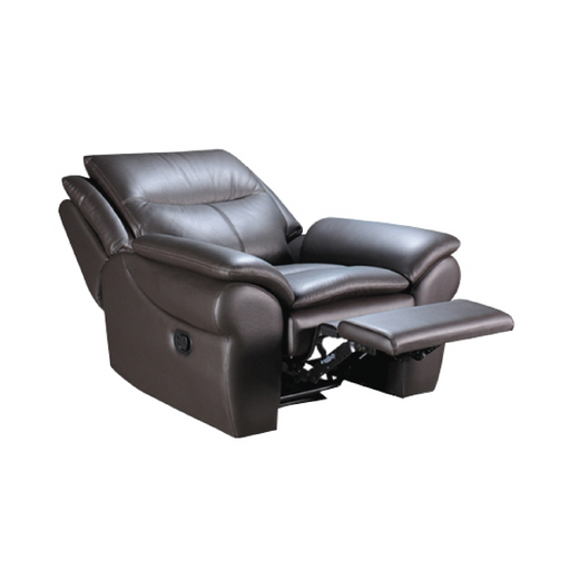 Tabby 1 Seater Recliner Sofa, Half Leather - Novena Furniture Singapore - Recliners