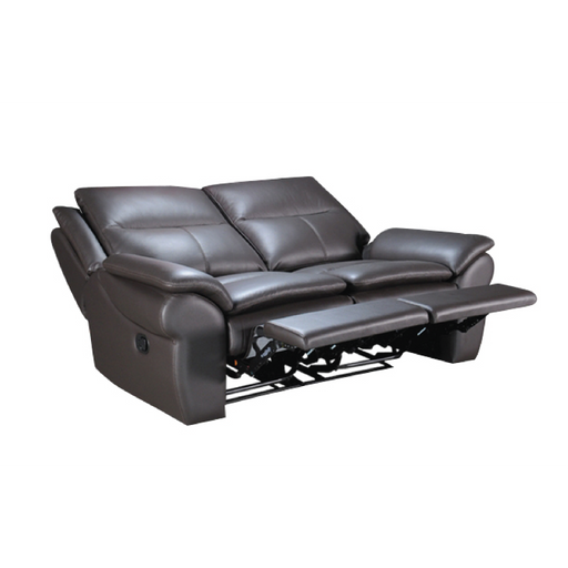 Tabby 2 Seater Recliner Sofa, Half Leather - Novena Furniture Singapore