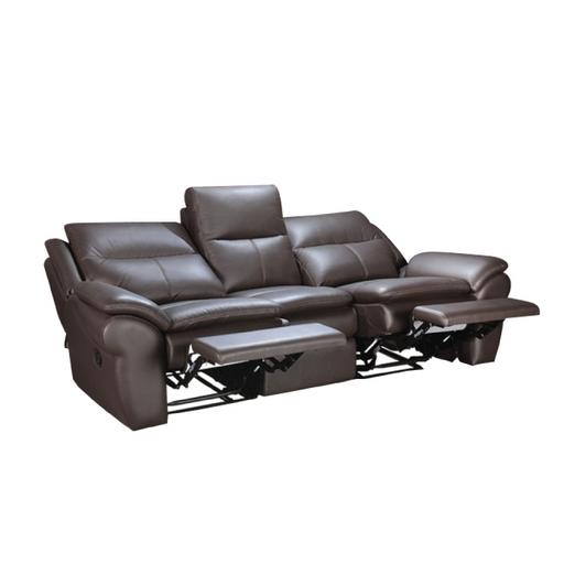Tabby 3 Seater Recliner Sofa, Half Leather - Novena Furniture Singapore - Recliners