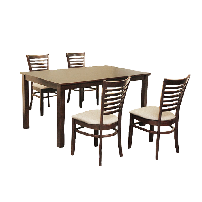 Tampa 1.5m Dining Set, Rubber Wood - Novena Furniture Singapore