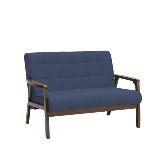 Tucson 2 Seater Sofa, Fabric - Cocoa/Midnight Blue - Novena Furniture Singapore - Sofas