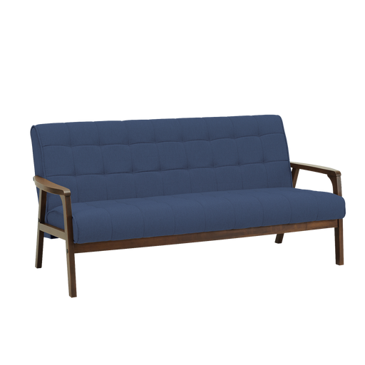 Tucson 3 Seater Sofa, Fabric - Cocoa/Midnight Blue - Novena Furniture Singapore