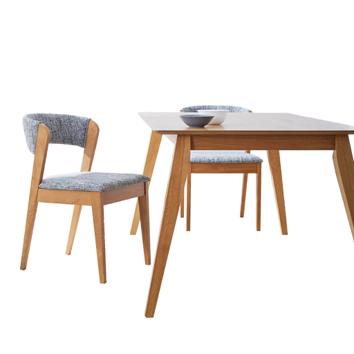 Vestige 1.6M Dining Table, Rubber Wood - Novena Furniture Singapore