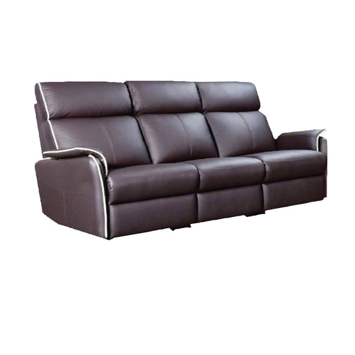 Silas 3 Seater Recliner Sofa, Half Leather