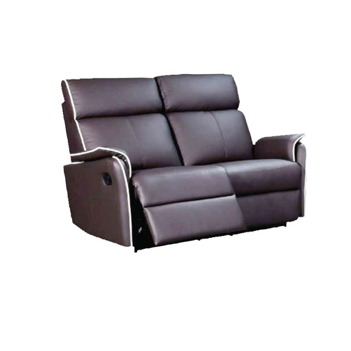 Silas 2 Seater Recliner Sofa, Half Leather - Novena Furniture Singapore