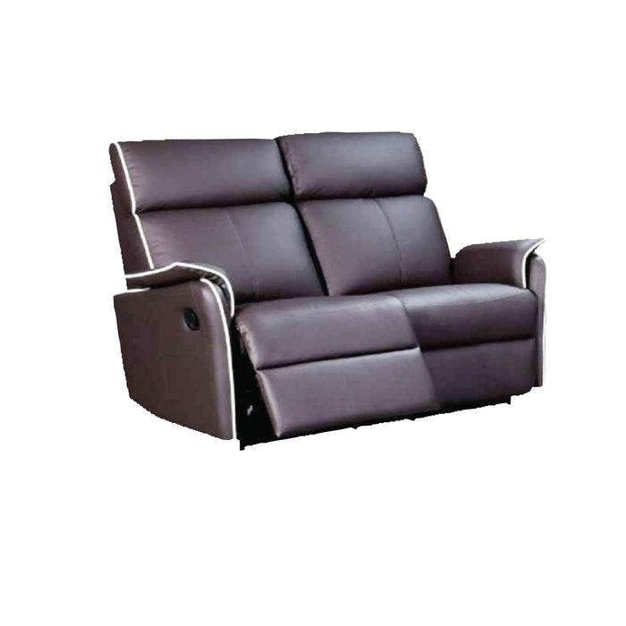 Silas 2 Seater Recliner Sofa, Half Leather