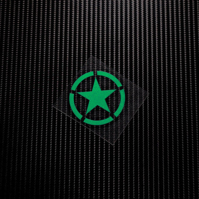 Five-Point Star Military Reflective Stickers
