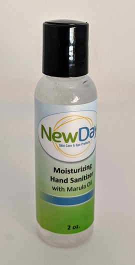 Moisturizing hand sanitizer with Marula oil